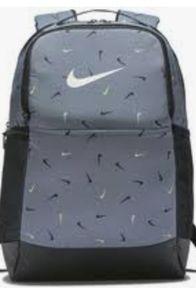 Nike Brasilia All Over Print Backpack Medium Grey